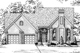 House Plan 92641 | Traditional Style Plan with 1996 Sq Ft, 3 Bedrooms, 3 Bathrooms, 2 Car Garage Elevation