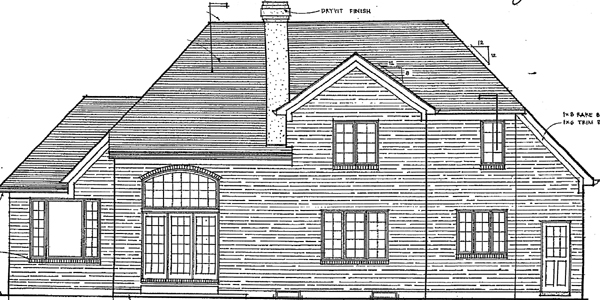 House Plan 92642 | European Traditional Style Plan with 2082 Sq Ft, 3 Bedrooms, 3 Bathrooms, 2 Car Garage Rear Elevation