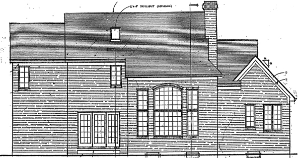 Traditional House Plan 92643 Rear Elevation