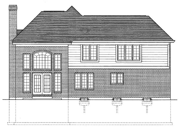Traditional House Plan 92644 Rear Elevation