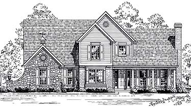 House Plan 92645 | Bungalow Tudor Style Plan with 2354 Sq Ft, 3 Bedrooms, 3 Bathrooms, 2 Car Garage Elevation
