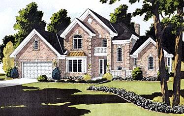 European, Tudor House Plan 92646 with 4 Beds, 3 Baths, 2 Car Garage Elevation
