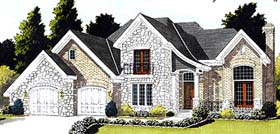 Bungalow European Tudor House Plan 92648 Elevation
