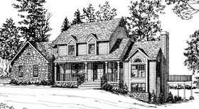 Bungalow, Country House Plan 92650 with 3 Beds, 3 Baths, 2 Car Garage Elevation