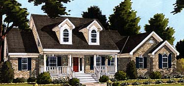 Cape Cod, Country, Southern House Plan 92653 with 3 Beds, 3 Baths, 2 Car Garage Elevation