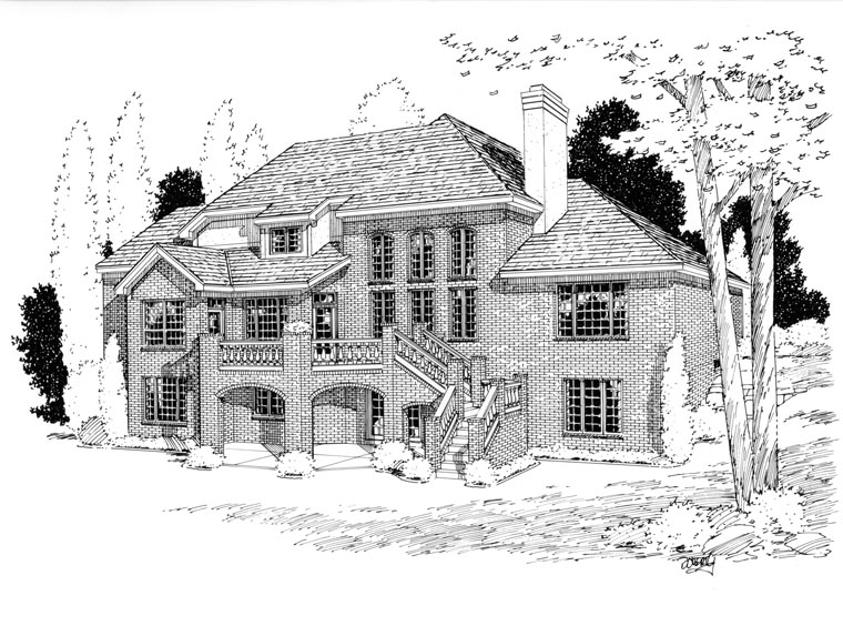 Country European House Plan 92654 Rear Elevation