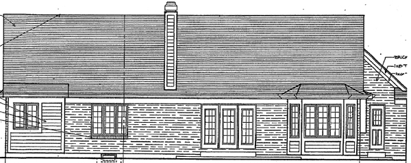 European Ranch House Plan 92655 Rear Elevation