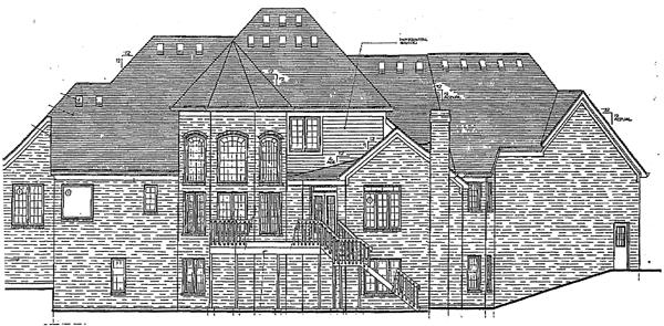 Colonial European House Plan 92656 Rear Elevation