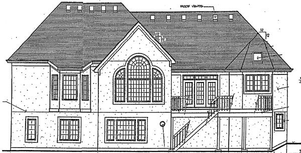European Victorian House Plan 92657 Rear Elevation