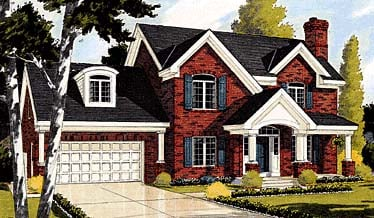 Colonial Country House Plan 92659 Elevation