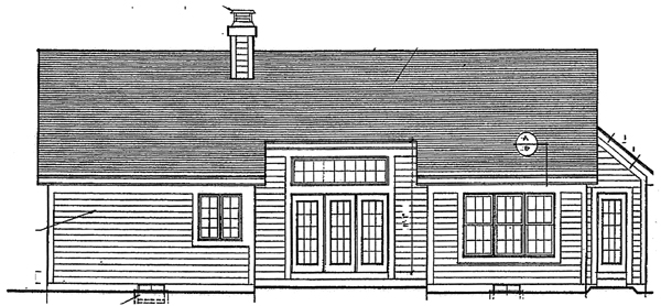 Bungalow Ranch House Plan 92660 Rear Elevation