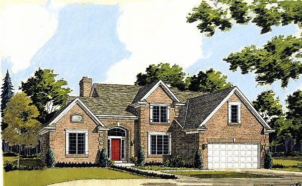 Country European House Plan 92662 Elevation