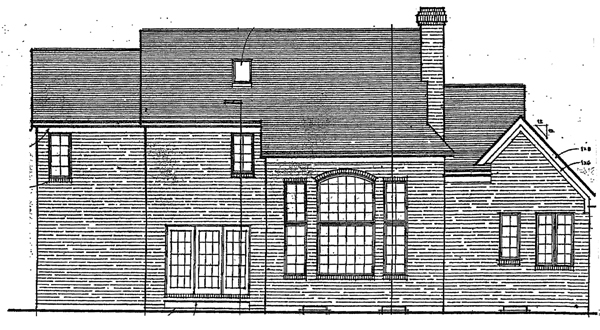 Country European House Plan 92662 Rear Elevation