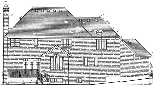 Tudor Victorian House Plan 92666 Rear Elevation