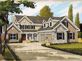 House Plan 92668 | Bungalow, Country Style House Plan with 1970 Sq Ft, 3 Bed, 3 Bath, 2 Car Garage Elevation