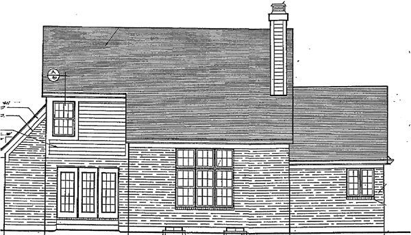 Bungalow Country House Plan 92668 Rear Elevation
