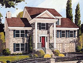 Colonial Country House Plan 92670 Elevation