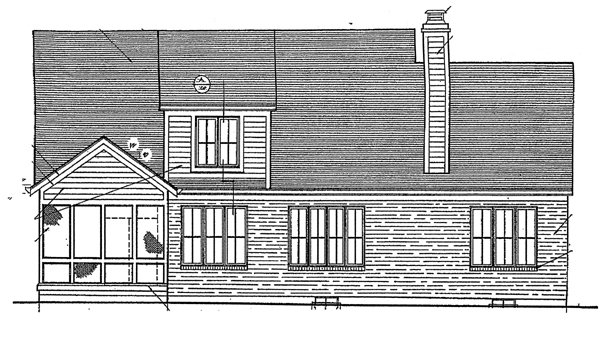 Bungalow Country House Plan 92674 Rear Elevation