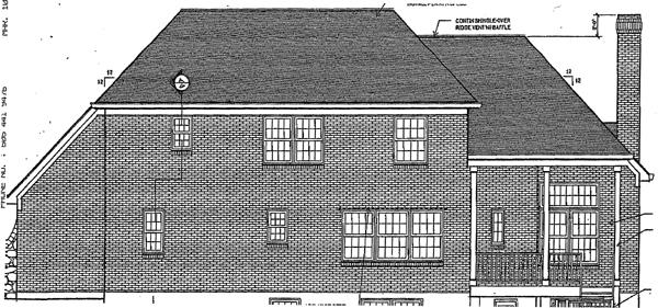 European Victorian House Plan 92675 Rear Elevation