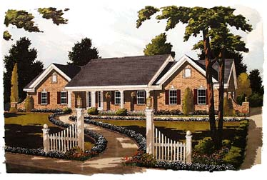 Ranch House Plan 92677 Elevation