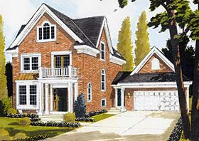 Colonial Farmhouse House Plan 92678 Elevation