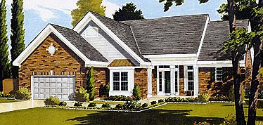 Country Ranch House Plan 92680 Elevation