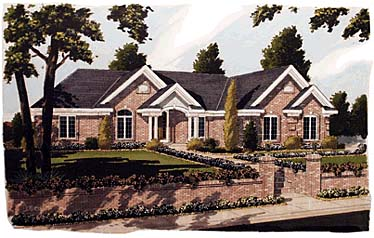 House Plan 92683 | Ranch Style Plan with 1825 Sq Ft, 3 Bedrooms, 2 Bathrooms, 2 Car Garage Elevation