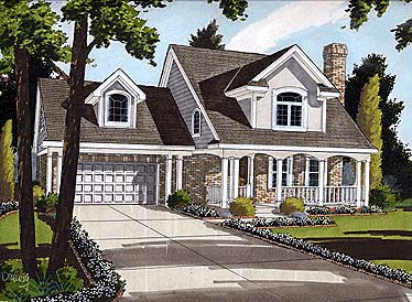 Country House Plan 92684 Elevation