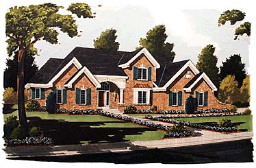European House Plan 92689 Elevation
