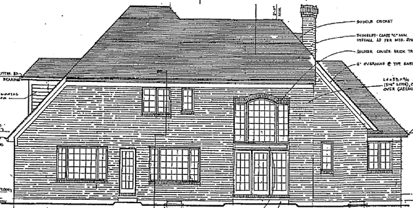 European Victorian House Plan 92691 Rear Elevation
