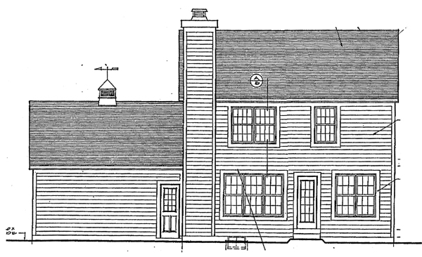 Country Farmhouse House Plan 92695 Rear Elevation
