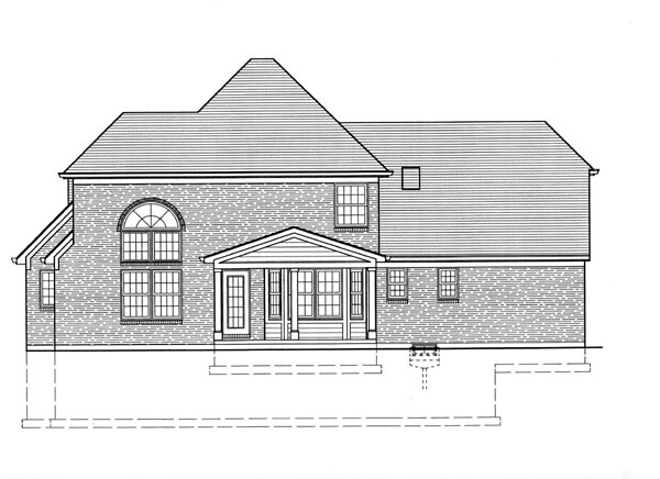 Colonial Country European House Plan 92696 Rear Elevation