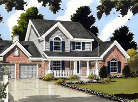 Bungalow Country House Plan 92697 Elevation
