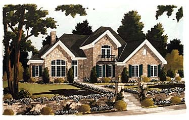 European House Plan 92698 Elevation