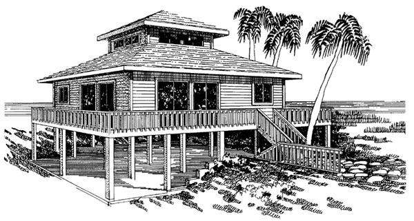 Coastal House Plan 92801 Elevation