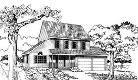 Plan Number 92809 - 1482 Square Feet