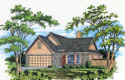 Ranch, Victorian House Plan 93024 with 3 Beds, 2 Baths, 2 Car Garage Elevation
