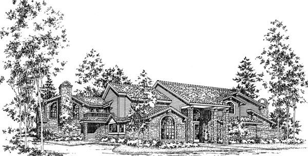 Traditional House Plan 93036 Elevation
