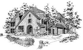 European Tudor House Plan 93044 Elevation