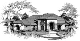 Colonial Southwest House Plan 93047 Elevation