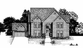 House Plan 93055 | Colonial Southern Style Plan with 2924 Sq Ft, 4 Bedrooms, 4 Bathrooms, 2 Car Garage Elevation