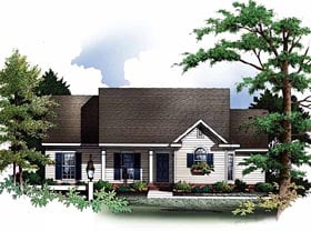 Plan Number 93073 - 1202 Square Feet