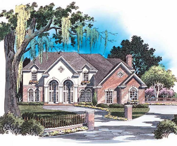 European House Plan 93090 Elevation