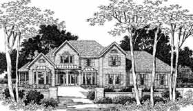 European House Plan 93093 Elevation
