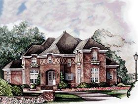 European Tudor House Plan 93096 Elevation
