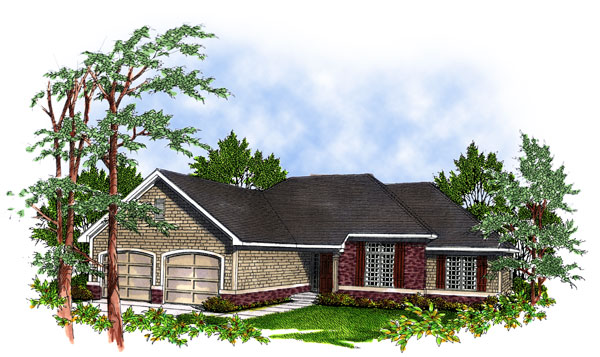 Ranch House Plan 93100 Elevation