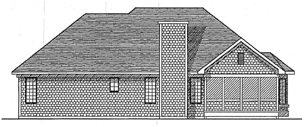 Ranch House Plan 93100 Rear Elevation