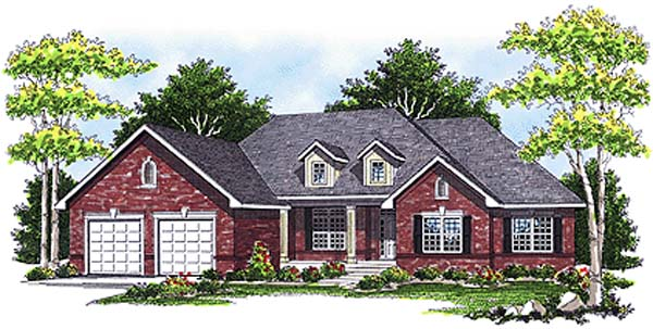 One-Story Traditional Elevation of Plan 93103