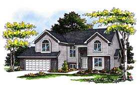 House Plan 93105 | Country European Style Plan with 2161 Sq Ft, 3 Bedrooms, 3 Bathrooms, 2 Car Garage Elevation