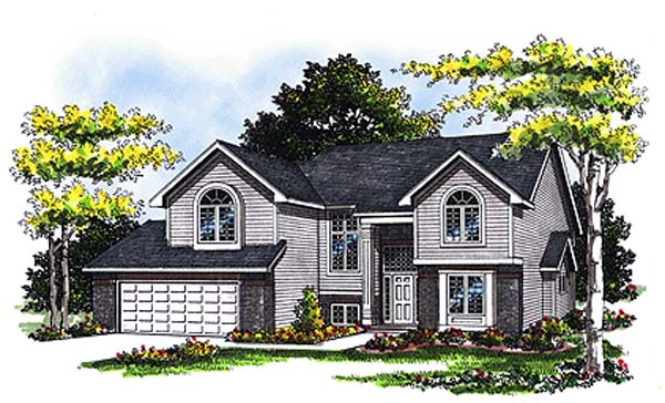 Country, European House Plan 93105 with 3 Beds, 3 Baths, 2 Car Garage Elevation